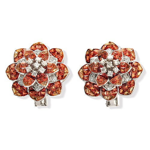 Bloom with Orange Sapphires & Diamonds