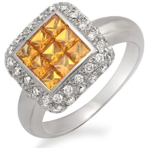 YELLOW SAPPHIRE & DIAMONDRING